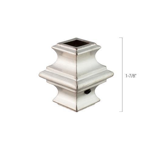Aluminum Baluster Collar - 1/2 in. Square (Discount Metal Balusters America)