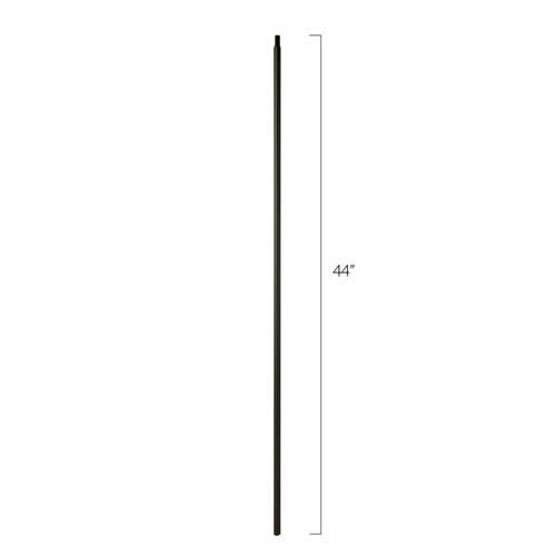 """Steel Tube Spindles, 1/2"""" Square Express Series With Dowel Top (Discount Metal Balusters America)"""