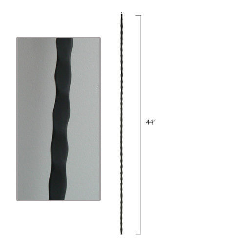 Hammered Steel Tube Spindles - 1/2 in. Square Series With Dowel Top (Discount Metal Balusters America)