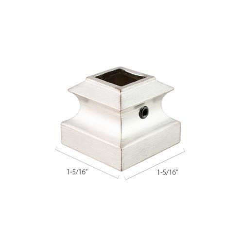 Aluminum Base Collars - 1/2 in. Square (Discount Metal Balusters America)