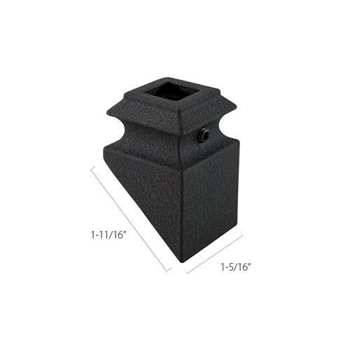 Aluminum Pitch Base Collars - 1/2 in. Square (Discount Metal Balusters America)