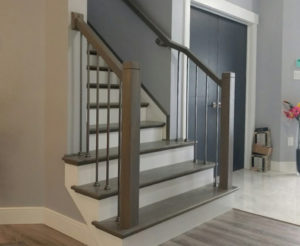 Install spindles (Iron Balusters Canada)